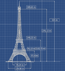eiffel wind generator tower elevation throughout feet